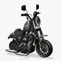 harley davidson iron 3d model