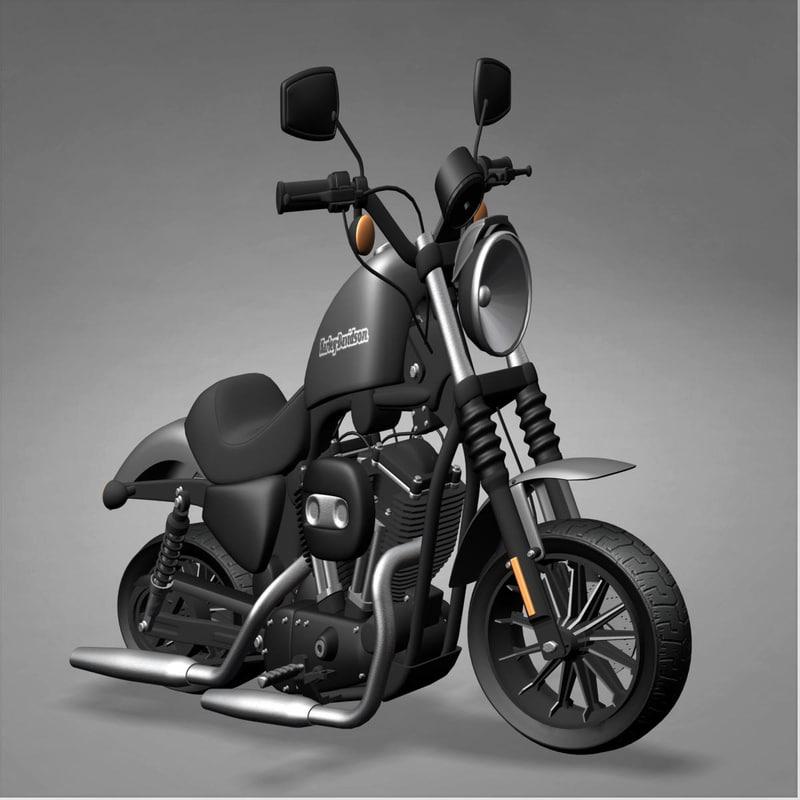 harley davidson iron 3d model