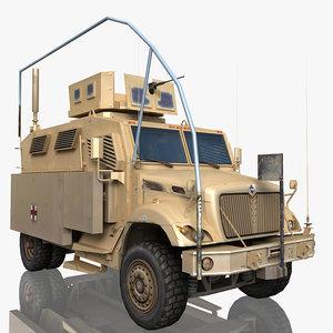 3d maxxpro military truck