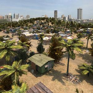3d shanty town