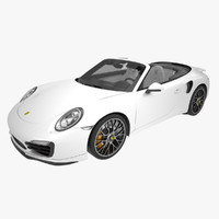 3d model of porsche turbo s cabriolet