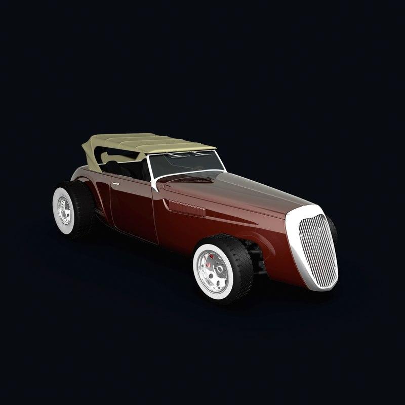 3d model hot rod