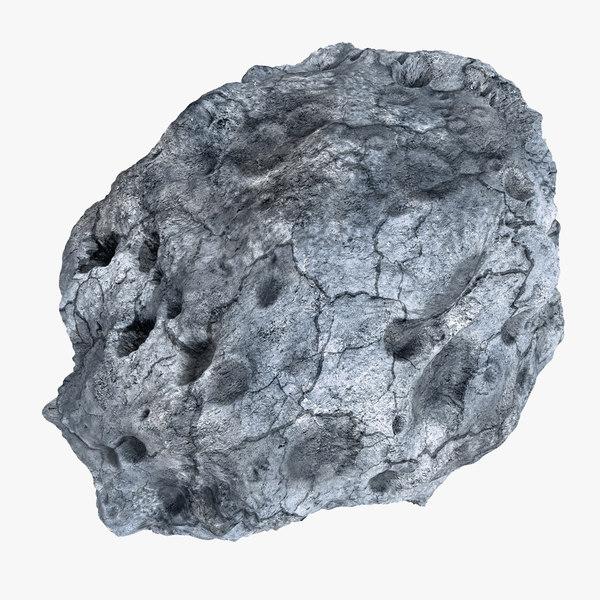 modeled asteroid 3d model