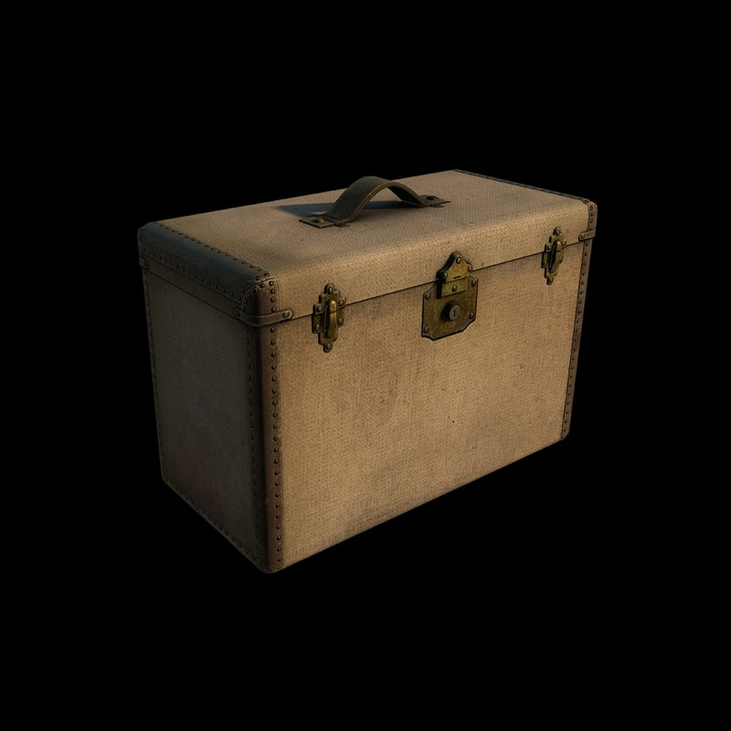 travel trunk 3d model