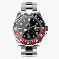 3d rolex gmt-master ii red model