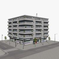 3ds max building m-03