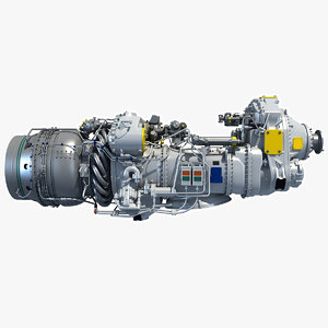pratt whitney canada pw100 3d model