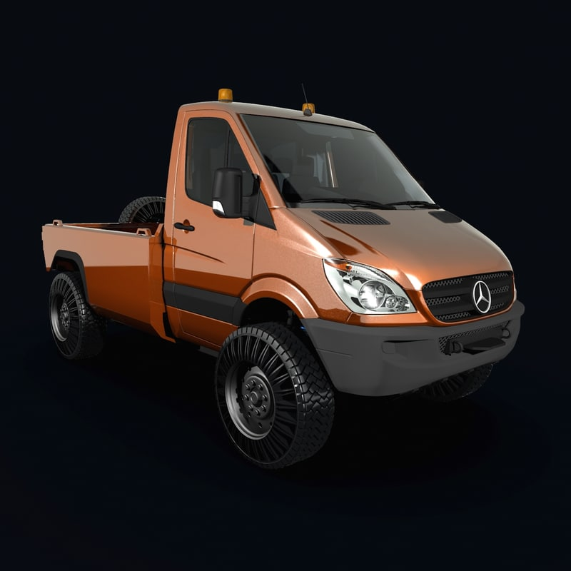 3d mercedes-benz sprinter 4x4 mercedes model