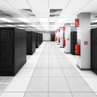 3d model data server center ibm
