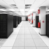 3d model data server center ibm