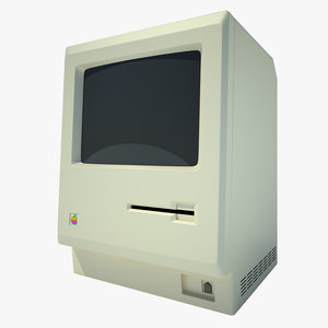 3d model apple macintosh1984 monitor