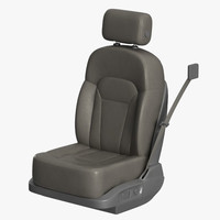 leather car seat 3d max