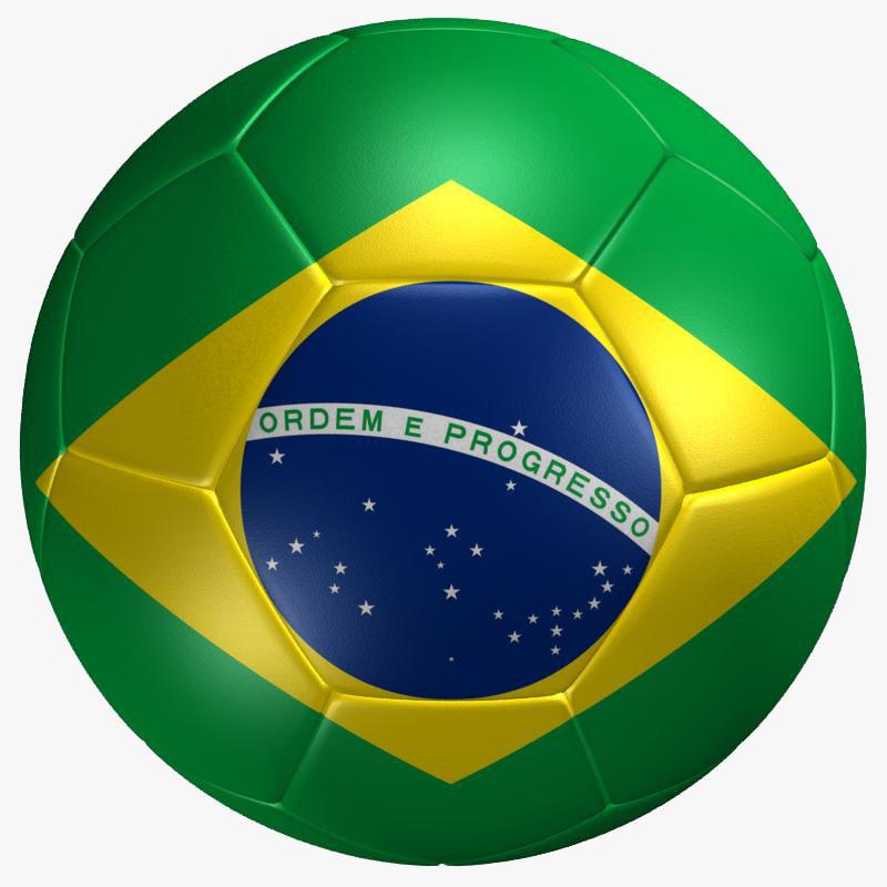 max soccer ball brazil flag