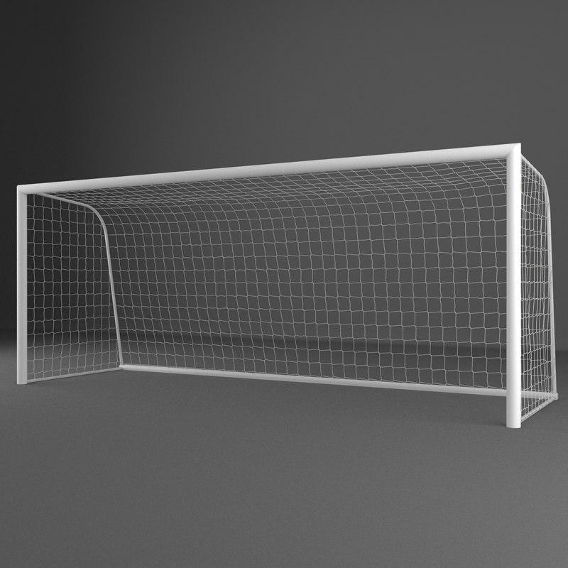 3d model of soccer goal