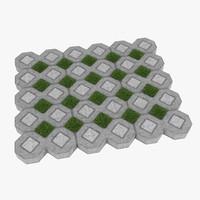 3d model grass s
