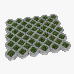 3dsmax grass pavers