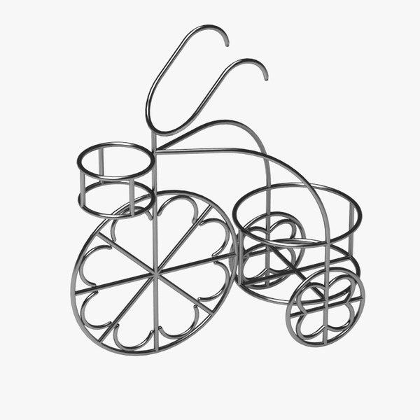 flower pot support 3d 3ds