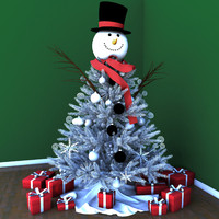 Christmas Tree White Snowman