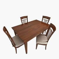 3d chair table traditional classic model