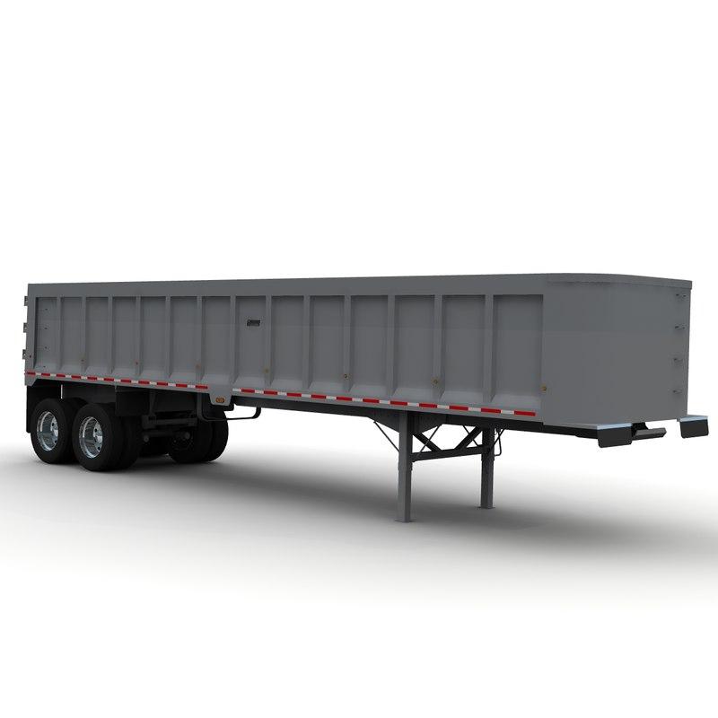 3d model trailer frameless dump tibrooke
