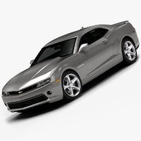 2014 chevrolet camaro interior 3d model