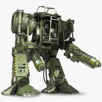military robot 3d model