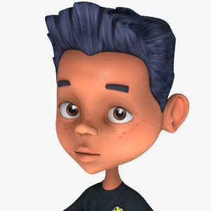 3d model cartoons character boy jason