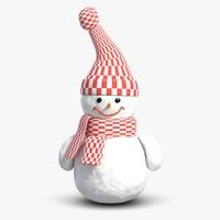 3d 3ds scene snowman