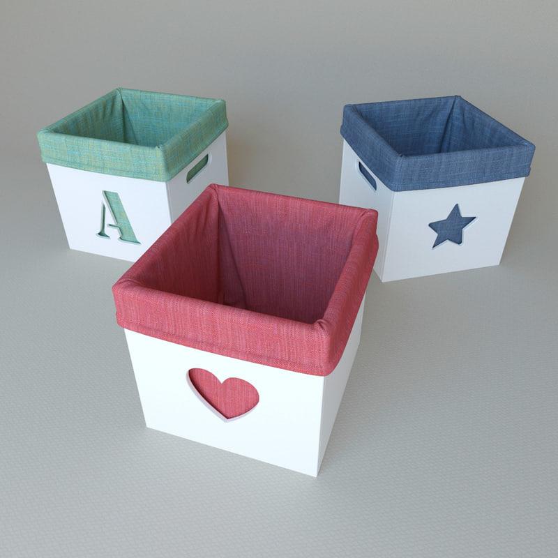 toy boxes 3d model