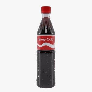 3d model cola bottle