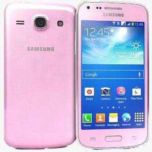 samsung galaxy core pink 3d model