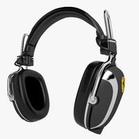 formula 1 headphones 3d model