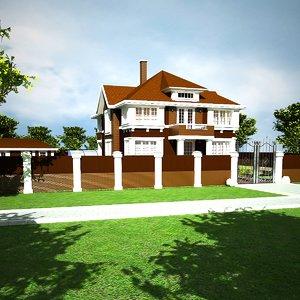 3d model house 18 sun