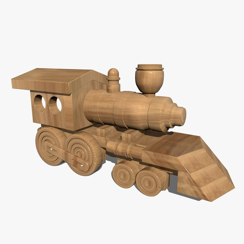 Wooden Toy Trains : D wooden train