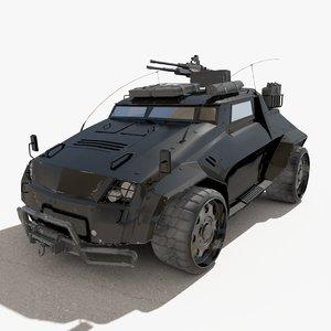 dystopia defiants light assault 3d model