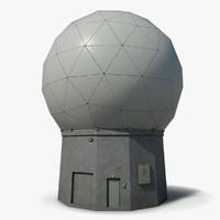 3d model radar dome