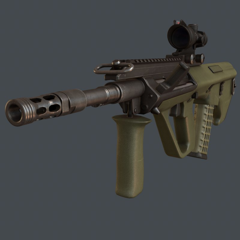 aug a3 rifle 3d model