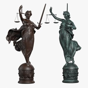 3ds max lady justice statue