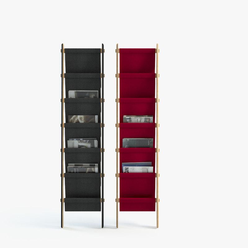plisado storage rack 3d max