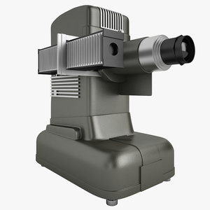3d model of old slide projector