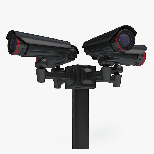 security camera 3d max