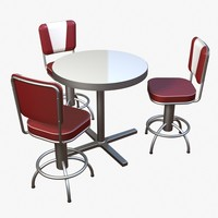 diner furniture set 3ds