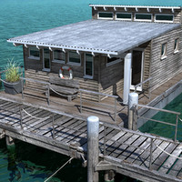 Floating House with Pier