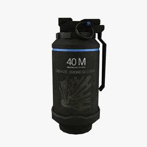 smoke grenade 3d model