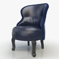 3d model sellerina chair baxter