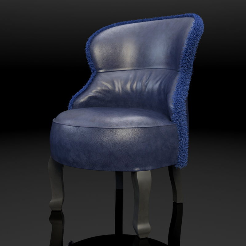 3d model sellerina chair baxter