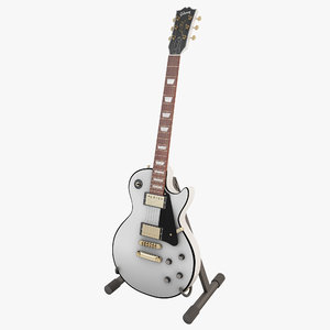 gibson les paul white 3d model