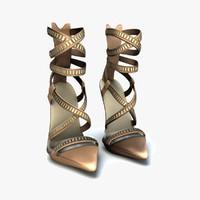 3d model versace heels