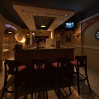 3d model of bar restaurant