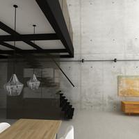 3d model loft scene